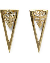 Vince Camuto - Goldtone Drop-back Triangle Earrings - Lyst