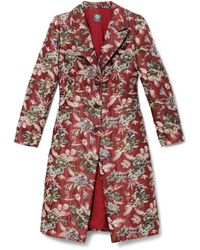 Vince Camuto - Floral-tapestry Topper Coat - Lyst