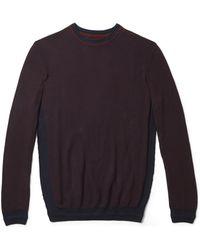 Vince Camuto - Mesh Crewneck Sweater - Lyst