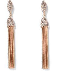 Vince Camuto - Rose Goldtone Chain Tassel Earrings - Lyst