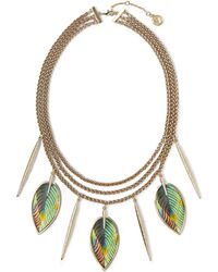 Vince Camuto - Feather Statement Necklace - Lyst