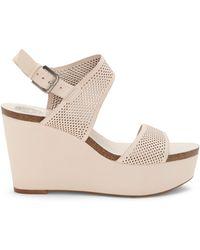 Vince Camuto - Vessinta Nubuck Leather Platform Wedge Sandals - Lyst