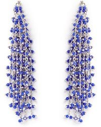 Vince Camuto - Silvertone Waterfall Earrings - Lyst
