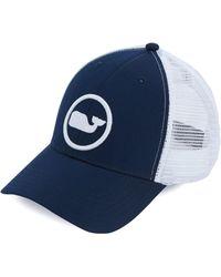 Lyst - Vineyard Vines Whale Dot Performance Trucker Hat in Blue for Men 223754324da