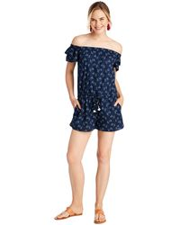 Vineyard Vines - Sailboat Print Romper - Lyst
