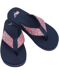 76143de51f18cf Lyst - Vineyard Vines Bubbles Jelly Flip Flops in Blue
