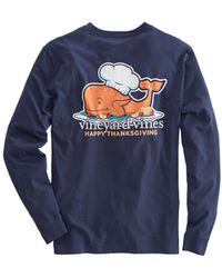 Vineyard Vines - Long-sleeve Thanksgiving Turkey Pocket T-shirt - Lyst