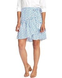 Vineyard Vines - Painterly Grid Wrap Skirt - Lyst