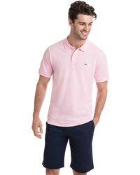 Vineyard Vines - Contrast Whale Stretch Pique Polo - Lyst