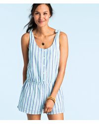 Vineyard Vines - Hope Bay Stripe Button Front Romper - Lyst