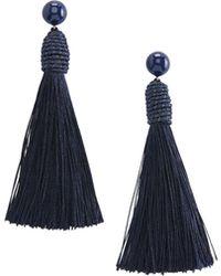 Vineyard Vines - Single Tassel Earrings - Lyst