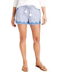Vineyard Vines - Striped Embroidered Hem Pull-on Shorts - Lyst