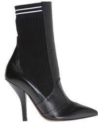 Fendi - Ribbed Sock Court Shoes - Lyst