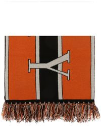 Burberry - Logo-embroidered Scarf - Lyst