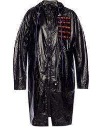 DIESEL - Rain Coat With Vents - Lyst