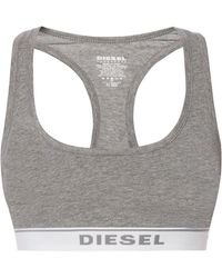82b12f8bbe2a9 DIESEL - Logo-embroidered Sports Bra - Lyst