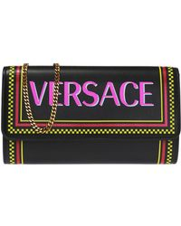 106ac59edc7 Lyst - Versace Tricolor Chain Card Holder in Blue