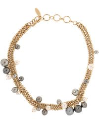 Lanvin - Necklace With Glass Pearls - Lyst