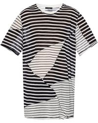 DIESEL - T-shirt With A Striped Pattern - Lyst