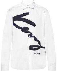 KENZO - Signature Shirt White - Lyst