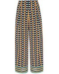 Etro - Patterned Silk Trousers - Lyst