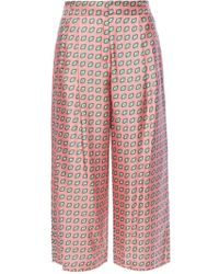 Etro - Patterned Loose-fitting Trousers - Lyst