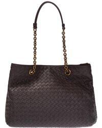 766141b105bc Bottega Veneta Leather Intrecciato Velvet Speckled Hobo - Lyst