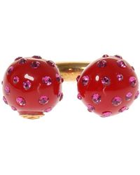 Gucci - Ring With Resin Pearls - Lyst