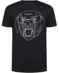 Givenchy - Rottweiler Head-printed T-shirt - Lyst