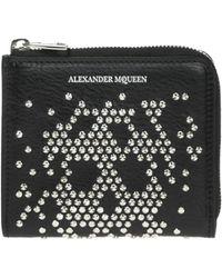 Alexander McQueen - Embellished Wallet - Lyst