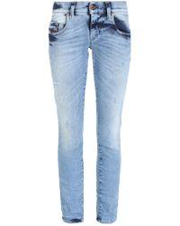 DIESEL - 'grupee-ankle' Super Skinny Jeans - Lyst