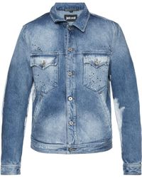 Just Cavalli - Printed Denim Jacket - Lyst