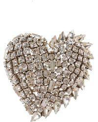 Saint Laurent - Heart-shaped Brooch - Lyst