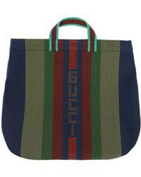 Gucci - Logo-stitched Hand Bag - Lyst