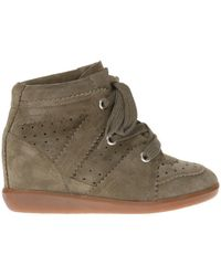 Isabel Marant - 'bobby' Suede Trainers - Lyst