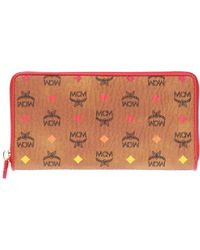 MCM - Wallet With A Logo Pattern - Lyst