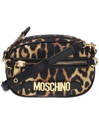 a2f99a70d Moschino - Women's Cross-body Messenger Shoulder Bag B741182111555 Brown -  Lyst