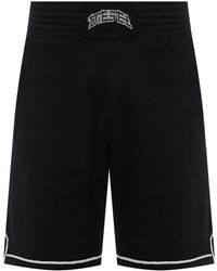 DIESEL - Shorts With An Embroidered Logo - Lyst