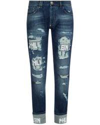Philipp Plein - Distressed Jeans - Lyst