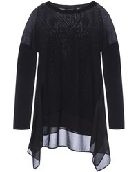 AllSaints - 'libby' Draped Sweater - Lyst