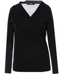 DIESEL - Sweater With Sheer Insert - Lyst