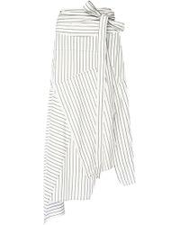 J.W.Anderson - Pinstriped Flared Dress - Lyst