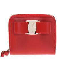 Ferragamo - Wallet With An Application - Lyst