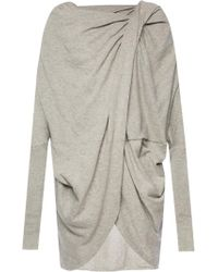 AllSaints - 'itat' Asymmetrical Sweatshirt - Lyst