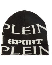 Philipp Plein - Logo Embroidered Beanie Hat - Lyst