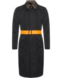 Alexander McQueen - Two-layered Coat With Belt - Lyst