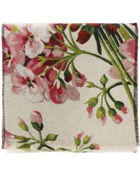 Gucci - 'blooms' Printed Scarf - Lyst