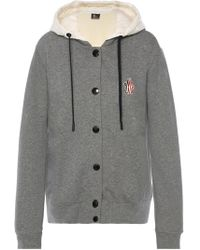 Moncler Grenoble - Sweatshirt With Down Hood - Lyst