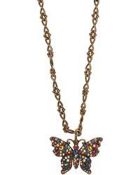 282b6987d Gucci Diamantissima Necklace in Metallic - Lyst