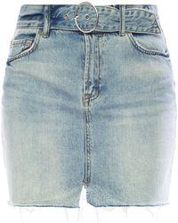 AllSaints - 'bette' Raw-trimmed Skirt - Lyst
